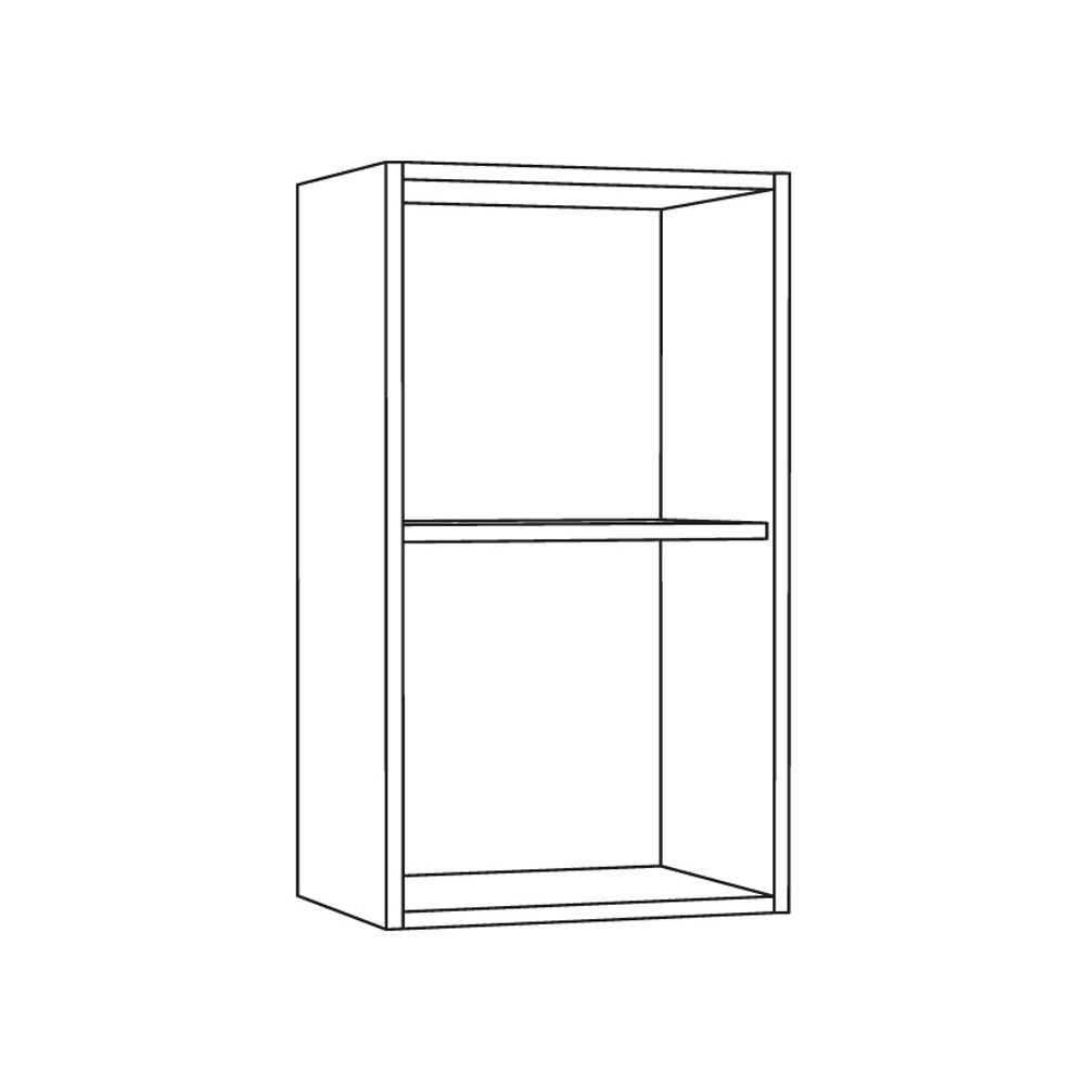 Шкаф навесной 400 витрина