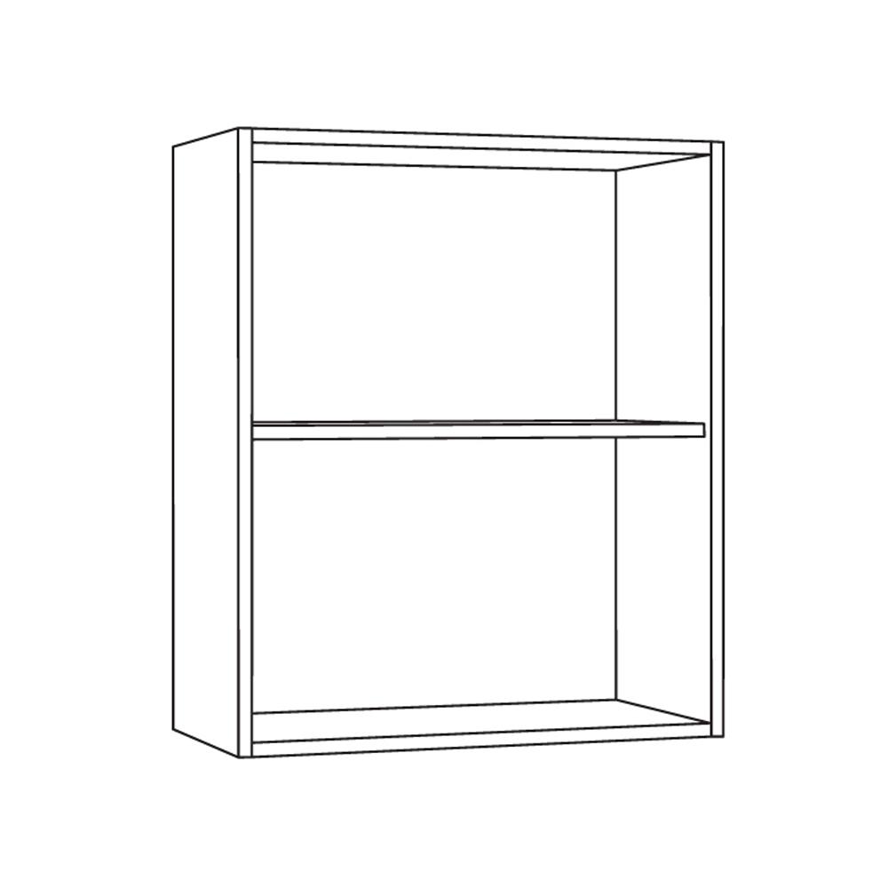 Шкаф навесной 600 гориз. 1 витрина 1 дверь