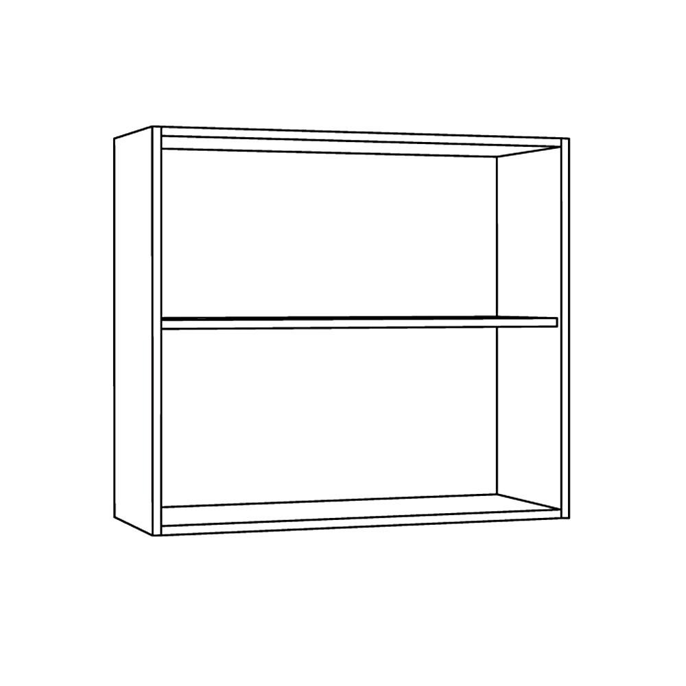 Шкаф навесной 800 гориз. 1 витрина 1 дверь