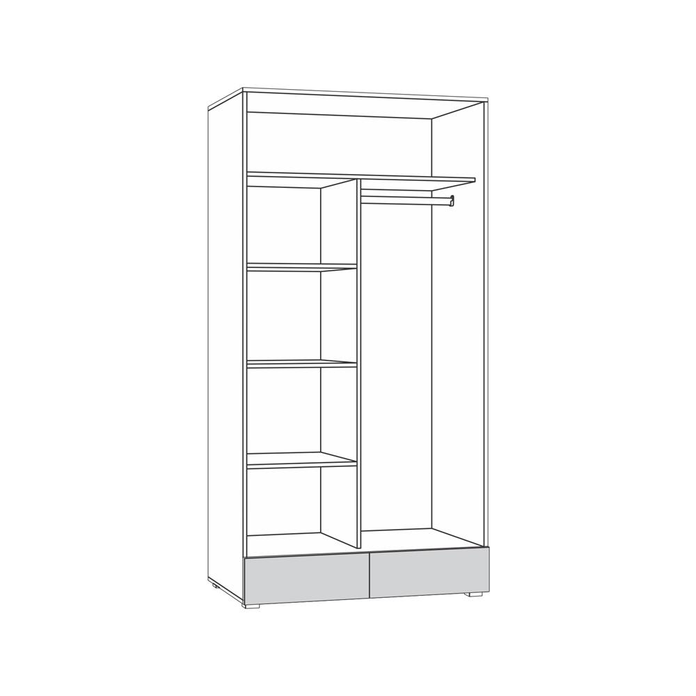 Линда 305 Шкаф 2-дверный