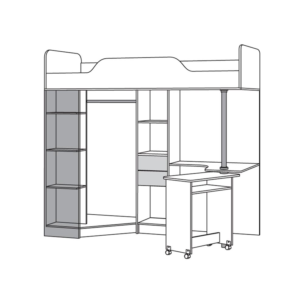 Ника 427 Кровать-чердак со столом