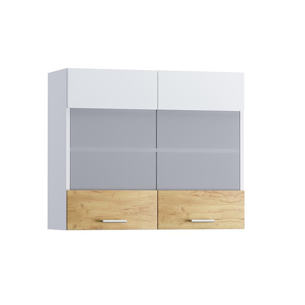 Шкаф навесной 800 2 витрины