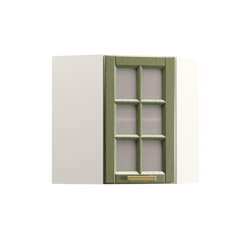 Шкаф навесной угловой витрина