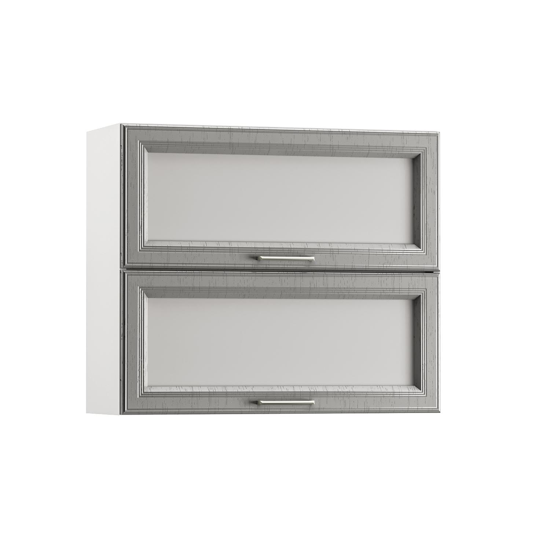 Шкаф навесной 800 гориз. 2 витрины