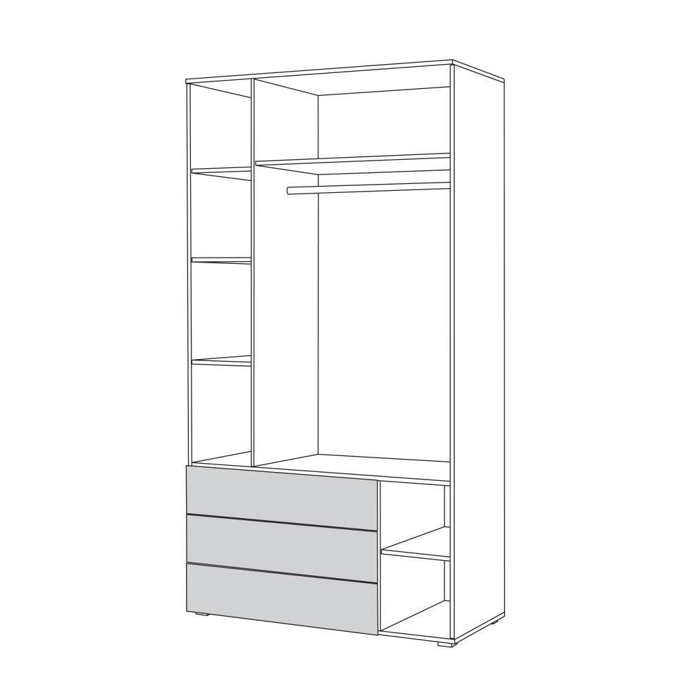 Локи Шкаф для одежды 10.71