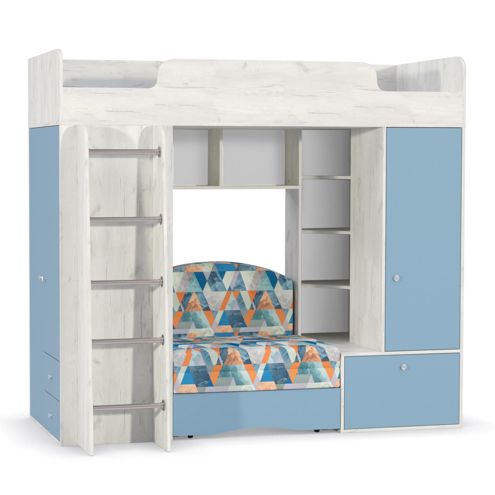 Тетрис 1 366 Кровать-чердак (с диванным блоком Арт. 02)