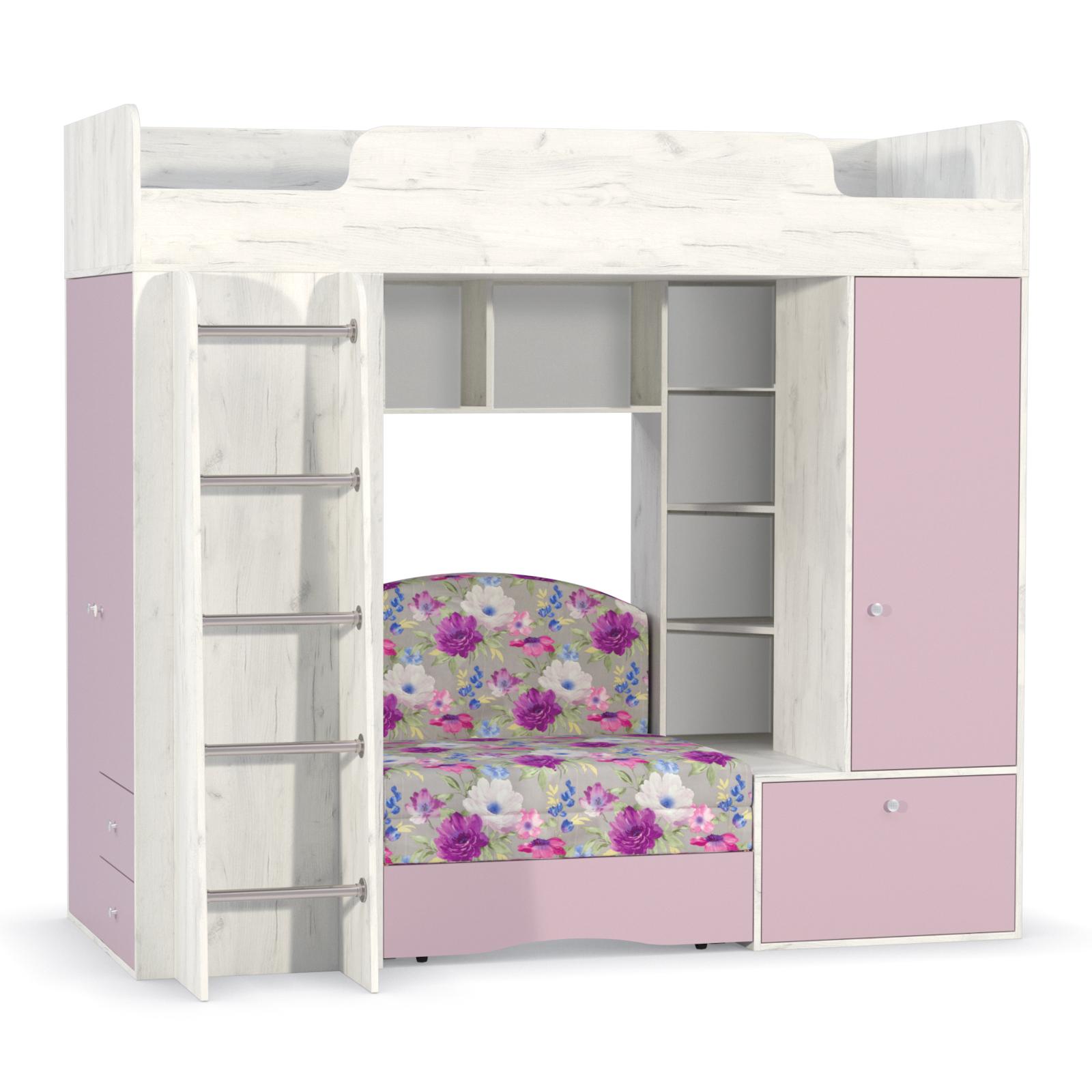 Тетрис 1 366 Кровать-чердак (с диванным блоком Арт. 03)