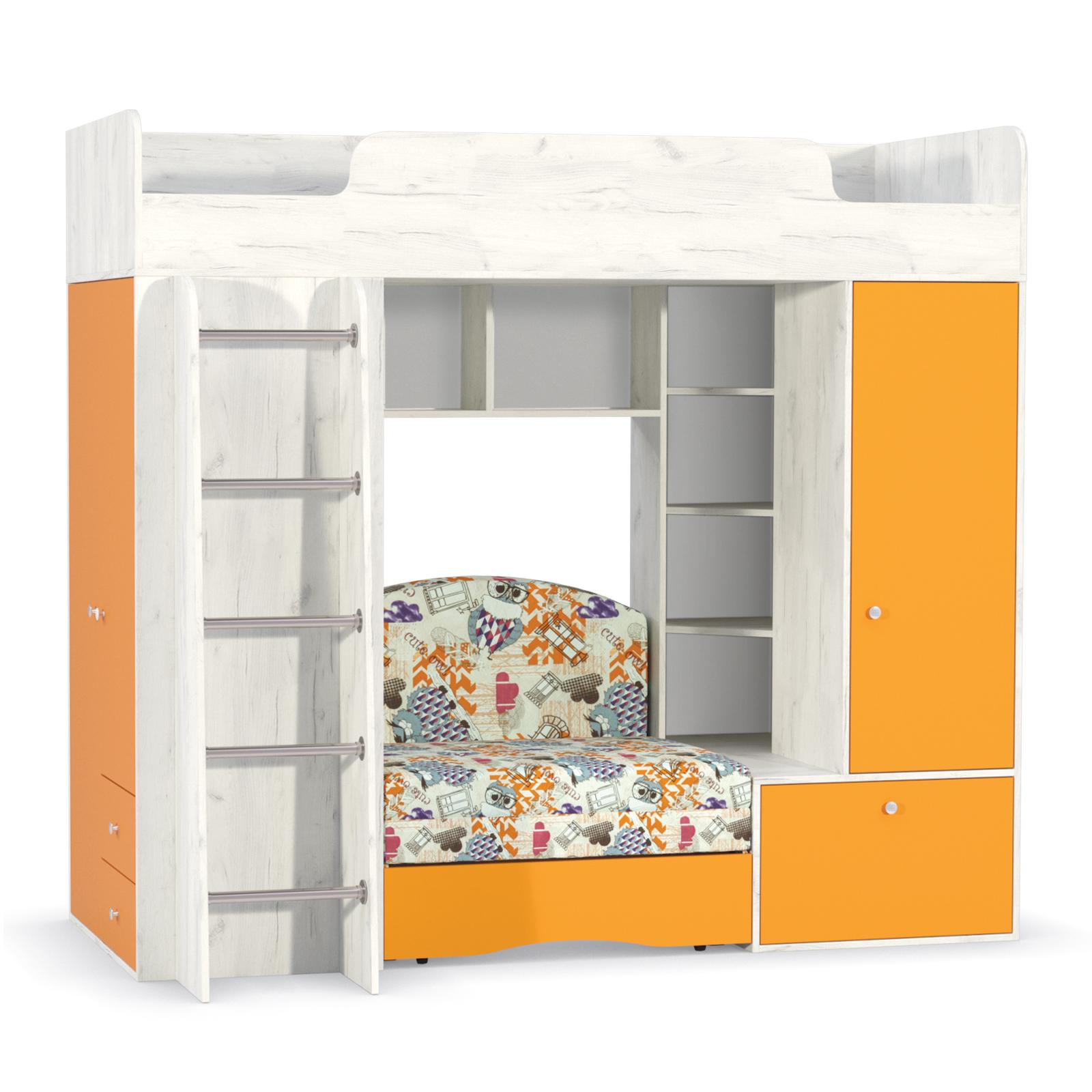 Тетрис 1 366 Кровать-чердак (с диванным блоком Арт. 01)